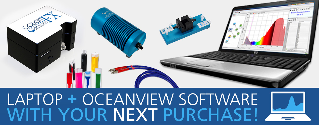 Ocean Optics Spectrometer Free Laptop and Software